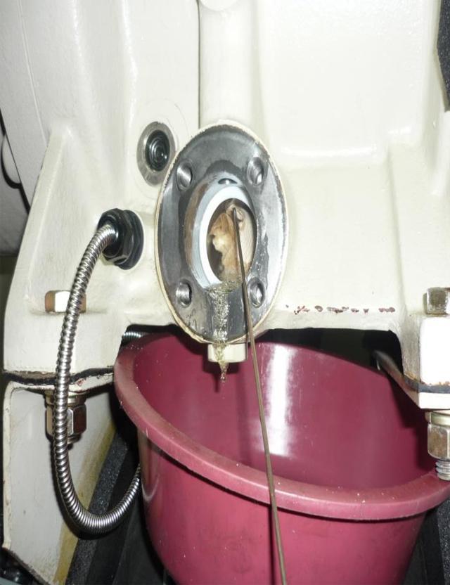 압축기 오일필터 분해, 세척정비